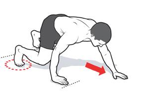 Мечешко ходене – упражнение за крака, корем и рамена