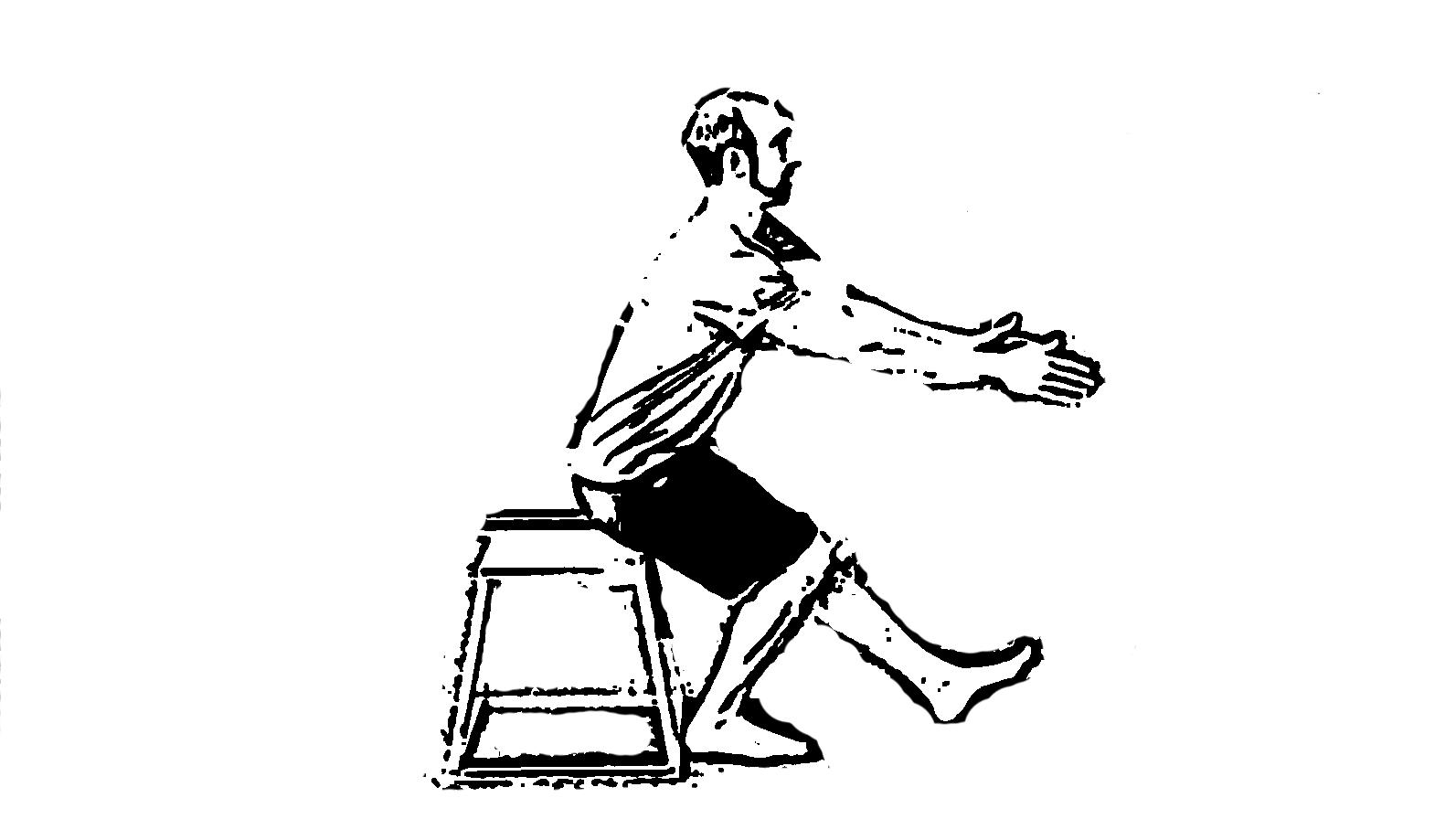 Клек с един крак и помощна кутия или пейка