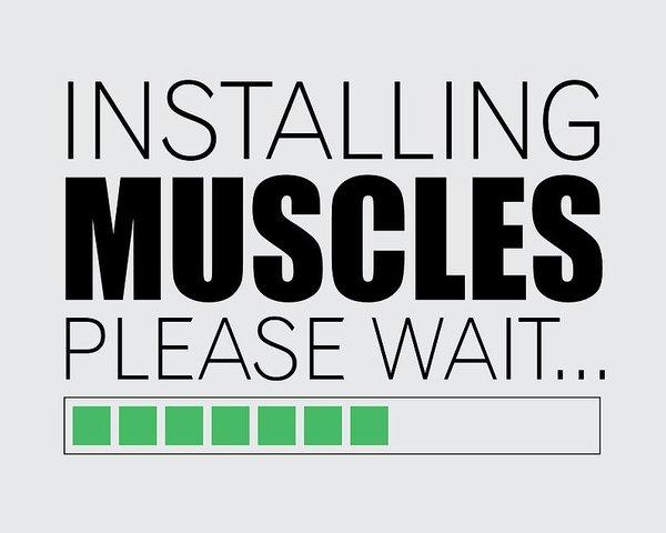 Инсталиране на мускули - моля изчакайте